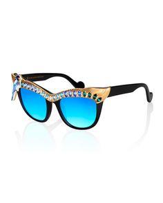 Anna-Karin Karlsson Magpie Cat-Eye Sunglasses $1,770.00