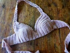 FATIMA CROCHET: Crocheted Bra with Inserts/Pads