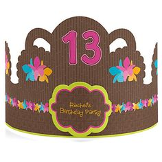 Luau - Personalized Birthday Party Hats | BigDotOfHappiness.com #SummerDecorations #SummerPartyIdeas #Luau