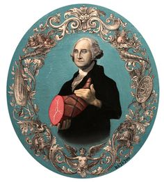 THE PRESIDENTIAL HAM-Portland-based artist bijijoo includes all Presidents in his portraits.