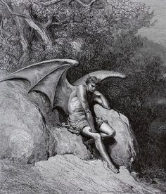 nigra-lux: DORÉ, Gustave (1832-1883)Illustration for John Milton's Paradise Lost, detail1866EngravingEd. Orig.