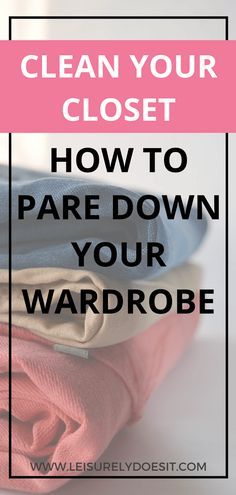 Use these simple tips to pare down your wardrobe and declutter your clothes and accessories. Simplifying your closet will help you look forward to getting dressed in what you love everyday. #closet #declutter #organize #organizing #clothes #clothing via @Leisurely Does It Small Closet Organization, Home Organization Hacks, Clothing Organization, Clothing Racks, Organizing Ideas, No Closet Solutions, Small Space Solutions, Cleaning Schedule Printable, Plumbing Pipe Furniture