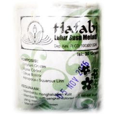 Traditional Indonesian Skin Whitening & Facial Scrub Cream made from White Jasmine Flower | $13.99