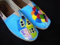 Роспись обуви акриловыми красками-10