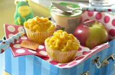 This Sneaky Chef mac and cheese recipe hides sweet potatoes and carrots in its cheesy sauce, and is perfect for lunchboxes in muffin form!