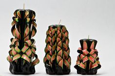 Forest Nymph CandleCarved Candles Taper candles Candle Set