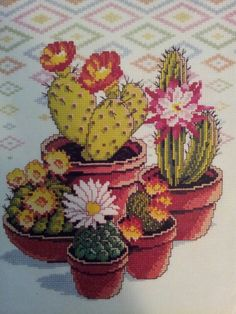 Cactus Garden (cross stitch)