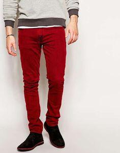 Nudie Jeans Tight Long John Skinny Fit Red Overdye $105 #codered #alexanderliang