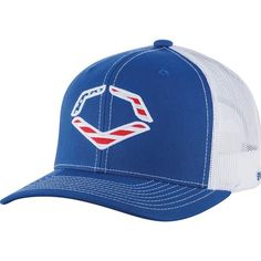 c2d8c7e9dd147 EvoShield USA Snapback Trucker Hat-Royal White