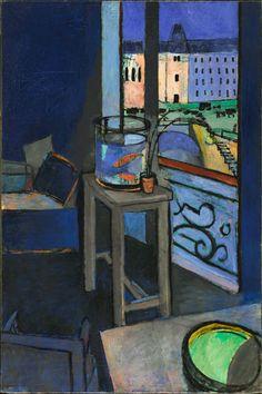 Henri Matisse (1869-1954), Interior with Goldfish, 1914. oil on canvas, 147 x 97 cm