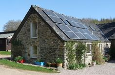 Photovoltaic panels providing some of our electricity at Seafield