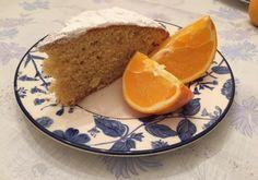 Greek New Year's Day cake with orange sponge