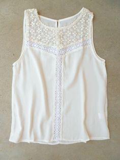 Crochet & Stitched Blouse : Vintage Inspired Clothing & Affordable Dresses, deloom | Modern. Vintage. Crafted.