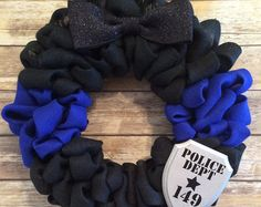 Burlap Wreath Wreath Police Police Officer by TheSeptemberTree