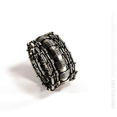 Wire wrapped ring - wide band massive heavy industrial by IMNIUM