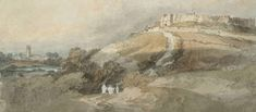 Joseph Mallord William Turner View of Carisbrooke Castle, from Clatterford; Carisbrooke Church to the Left 1795 From Isle of Wight sketchbook