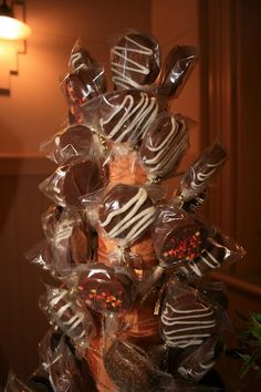 Finished guest favors/sucker tree (oreo pops)