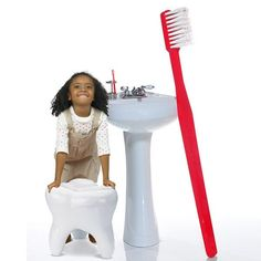 FREE SHIPPING!* This 5-foot giant toothbrush is sure to put a big smile on everyone's face! This most requested item is meticulously made of sturdy, brightly colored plastic with real bristles. A fine replica of a classic toothbrush. Use this great pop-art item for the bathroom to inspire your children to brush or to amuse your guests. Displayed in a dentist office this delightful decor will surely entertain your patients. A unique gift for that newly graduated or retiring dental…