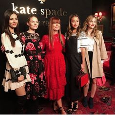 Leighton attended Kate Spade's Spring 2017 Presentation at #NYFW! ❤️ In the pic with Victoria Justice, Jennifer Morrison, Jamie Chung and Deborah Lloyd.