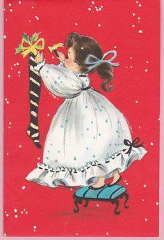 Hallmark carta natale ragazza su vintage di VintageSouthernLady
