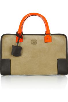 1b9f6e103d065 Loewe - Amazona 600 leather and suede tote