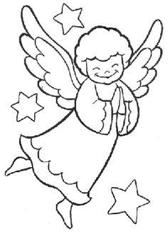 Dibujos de ángeles para colorear