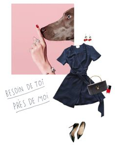 """A girl and her pup"" by tasteofbliss ❤ liked on Polyvore featuring Christian Louboutin and Chanel"