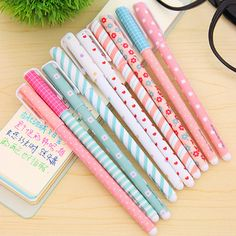 10 Cute Kawaii Stationery Pens Perfect For School, Journaling, Drawing, and More! *** 30 Day Money Back Guarantee Please Allow 2-3 weeks for Shipping