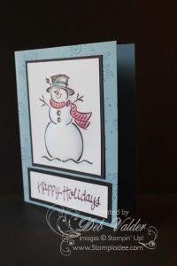 snowman-Blendabilities-cotton-ball-technique-puff-beauty-of-the-season-cardinal-christmas-hostess-stamp-set-stampin-up-deb-valder-1 Stampin Up Frosty