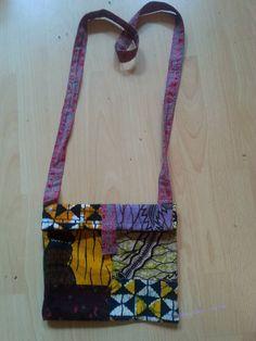 schoudertas v Afrikaanse stof bij Yanine design