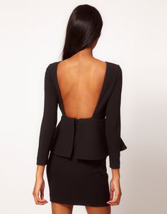 Love the back combined with a peplum style dress