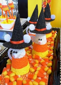Halloween Candy Corn Party - Party Planning - Party Ideas - Cute Food - Holiday Ideas -Tablescapes - Special Occasions And Events - Party Pinching