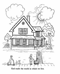 Here we have a collection of coloring pages to help you teach the