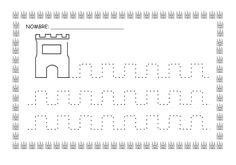 ESOS LOCOS BAJITOS DE INFANTIL: MAS FICHAS DEL PROYECTO LOS CASTILLOS Pencil Grip, Château Fort, Head Start, Fine Motor, Worksheets, Homeschool, Education, Knights, Handwriting