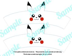 Pokemon Pikachu Cupcake Wrapper Holder by FancyAndFunFamily