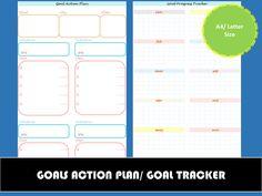 Goal Action Plan Printable  Goal Tracker  Goal Setting Worksheet