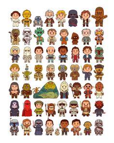 Little Galaxy Pre-Order — Matthew Kaufenberg Studios Star Wars Fan Art, Star Wars Birthday, Star Wars Party, Star Wars Karikatur, Heros Disney, Star Wars Cartoon, Cuadros Star Wars, Illustrator, War Comics