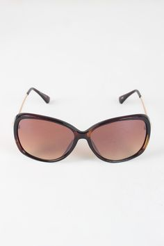 """Semi-Round Lens Silhouette Sunglasses. These trendy  sunglasses  feature semi-round silhouette lenses, plastic frame design, metallic arms, and nose bridge cushions. Measurement Measures Approx. 2.25"""" L x 6"""" W."""