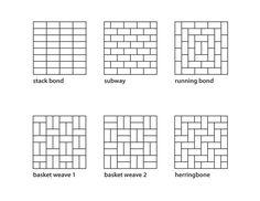 Subway Pattern Tile 10 creative ways to use subway tile | subway tile patterns, tile