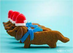 Dachshund Xmas cookies, so cute!