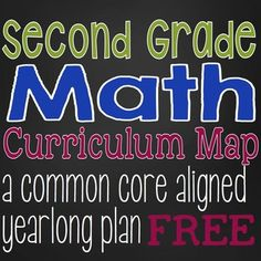 This Second Grade Math Curriculum Map outlines the Common Core Math Standards for second grade over the course of a full year.  This is the same curriculum map I have used in my classroom for the past several years.It is presented in two formats.  One format is by month, to give you an idea of the scope and sequence of the standards. Curriculum Mapping, Common Core Curriculum, Common Core Math, Curriculum Planning, Lesson Planning, Teaching Time, Teaching Math, Teaching Ideas, Math Stem