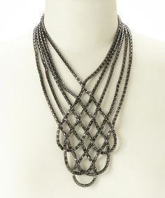 Look at this #zulilyfind! Hematite Mesh Woven Necklace #zulilyfinds