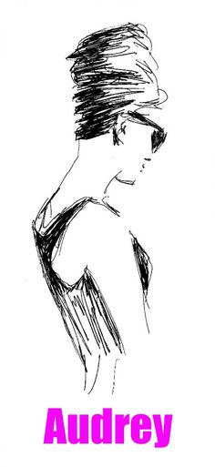 Ready for download digital graphic design. Hand-drawn portrait of legendary actress Audery Hepburn is original design for T-shirt, poster, a part