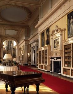 ~ Design Luv ~ — The Long Library at Blenheim Palace, Oxfordshire,. Blenheim Palace, Beautiful Library, Home Libraries, Grand Homes, Historic Homes, Interior And Exterior, Interior Design, My Dream Home, House Styles
