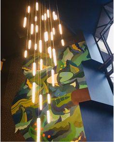 Création inédite à Chamonix Hôtel Le Refuge des Aiglons #lustre #chandelier #stalactite #décointérieure #arhitecture #surmesure #bespoke #lights #suspension #LEDlights #design #luminaires Stalactites, Chamonix, Refuge, Luminaire Design, Cave, Branding Design, Creations, Chandelier, Lighting