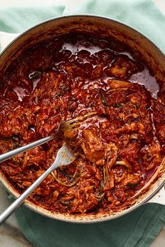 dinner recipes for family main dishes Braised Pork AllArrabbiata Recipe - NYT Cooking All Arrabiata, Pork Recipes, Cooking Recipes, Fire Roasted Tomatoes, Braised Chicken, Pork Dishes, How To Cook Pasta, Italian Recipes, Food To Make