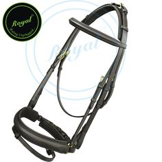 Royal Buckle Head Piece Dressage Bridle with PP Rubber Grip Reins. Regular price $108 Sale price $88 (Havana/ Brass Buckle)