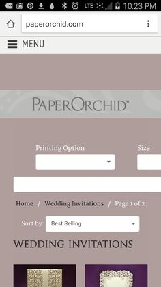 Best resource for laser printed wedding invitations. Paper Orchid.