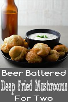 These Beer Battered Deep Fried Mushrooms are fried to a crispy golden brown with the perfect beer batter coating over delicious whole button mushrooms. Fried Mushroom Recipes, Deep Fried Recipes, Mushroom Appetizers, Finger Food Appetizers, Appetizer Recipes, Snack Recipes, Deep Fried Foods, Deep Fried Shrimp, Vegetable Appetizers