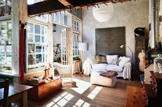 Stunning and striking: a converted warehouse